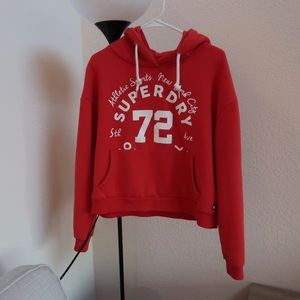 Superdry authentic red hoodie